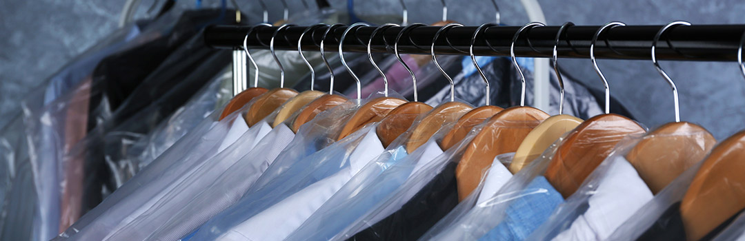 dry cleaning clothes